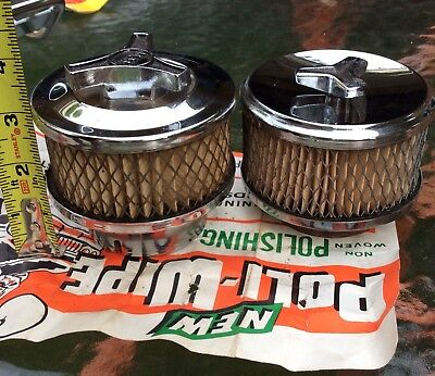 Hot Rod Air Cleaner Small Unused Old Vintage MW Nice Patina