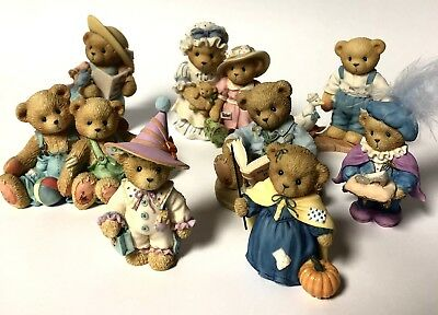 Cherished Teddies Figurines Collectibles Lot Of 8