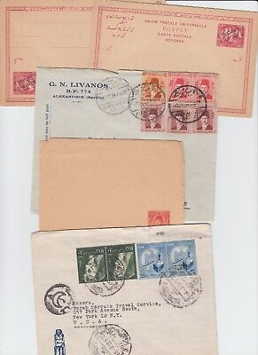 Egypt and UAE cover lot of 5 items. A couple commercially used.