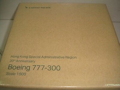 """Herpa Wings 500 Cathay Pacific Airways CX B777-300 """"20th anniversary"""" 1:500 NG"""
