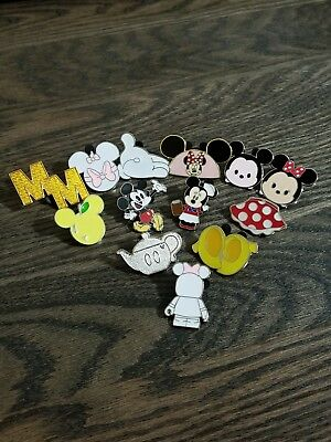 Disney Pin Lot - Mickey Mouse/ Minnie Mouse & Accessories Lot of 13 Trading pins
