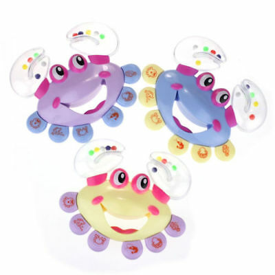 1pc Musical Instrument Kids Baby Handbell Jingle Crab Design Shaking Rattle Toy