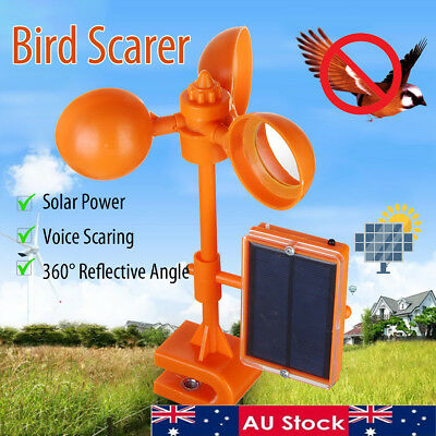 Ultrasonic Solar PIR Sensor Repeller Bird Pigeon Crow Scarer Deterrent Repellent