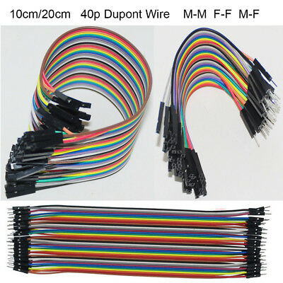 10/20cm 40p Dupont Jumper Wire M-M F-F M-F Cable Connector 2.54mm Test Line