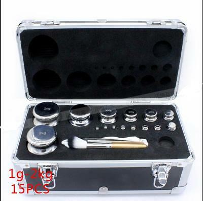 15Pcs Calibration Weight Set with box  total 6110g  Precision Balance Scale