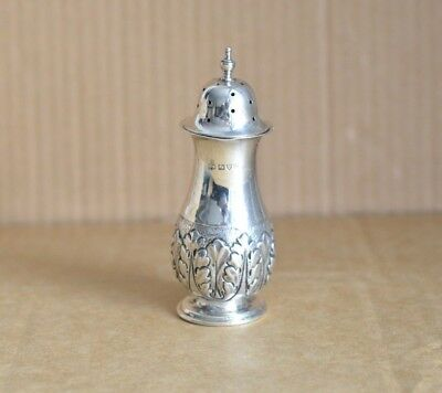Vale Bros & Sermon Chester 1903 Sterling Silver Pepper Pot Pepper Shaker