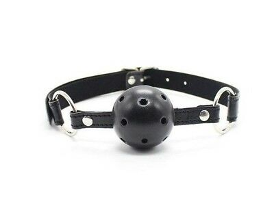 Breathable ball gag nero traspirante morso black bondage fetish costrittivo