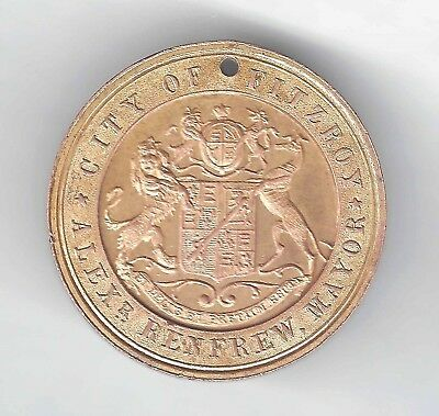 1837-1897 QUEEN VICTORIA'S DIAMOND JUBILEE medallion CITY OF FITZROY - STOKES