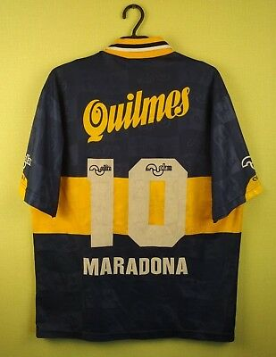 designer fashion a66da c4c14 BOCA JUNIORS JERSEY shirt №10 Maradona 1995/1996 Home olan soccer football  s. 46