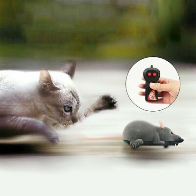 Wireless Remote Control RC Electronic Rat Mouse Mice For Cat Dog Pet Funny  U7O3