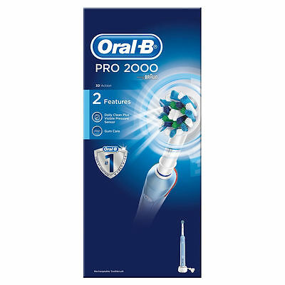 Braun Oral-B PRO 2 2000N CrossAction Electric Rechargeable Power Toothbrush