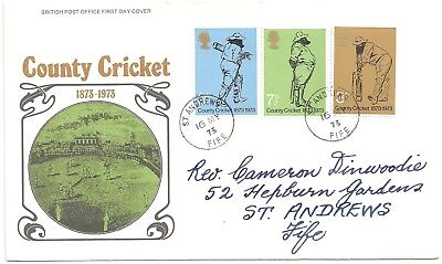 GB QEII - County Cricket - 1973, 16 May - PO First Day Cover (Lot #2042)