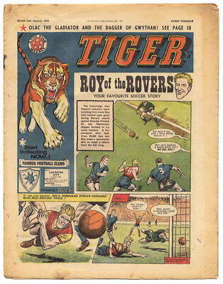 Tiger 25th Nov 1961 (Olac, Roy of the Rovers, Jet-Ace Logan by Brian Lewis)
