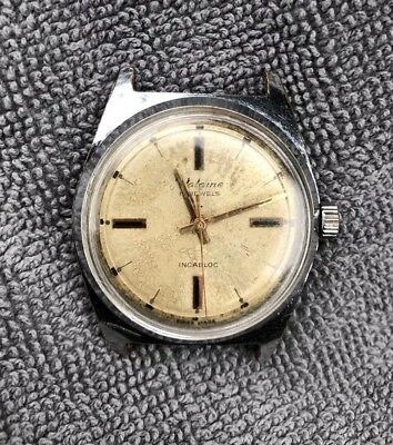 Vintage  Valaine Cal (St 1686) 17 Jewels Winding Working  Mens Old Wrist Watch