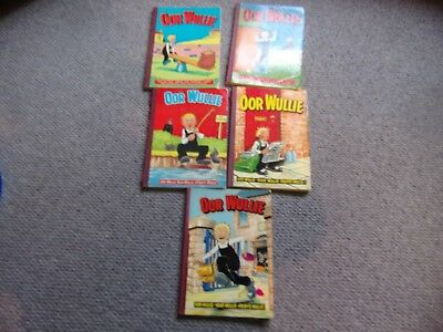 Oor Wullie  Annuals 1976,  1978,1980, 1982 and 1984