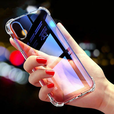 For Apple iPhone XS Max XR 8 7 Plus Luxury Shockproof Silicone Clear Case Cover