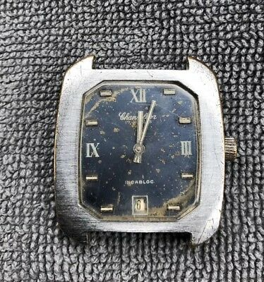 Vintage Chancellor Date Cal 046 Winding 17 Jewels Working Mens Old Wrist Watch