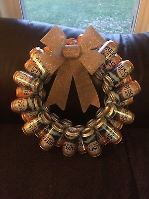 Beer Can Wreath You Choose Beer This Auction Is For Only 1 Wreath