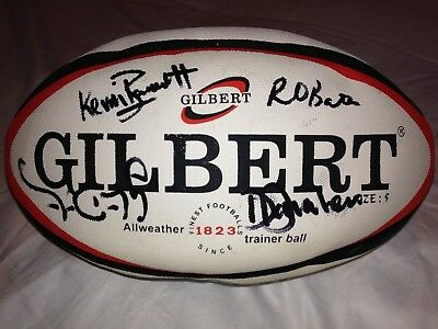 Rugby Ball Signed by London Irish Team - Size 5