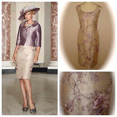 Condici MOTHER OF THE BRIDE 90395 Dress/Jacket, Pearl Oleander (Golds/Lilac)