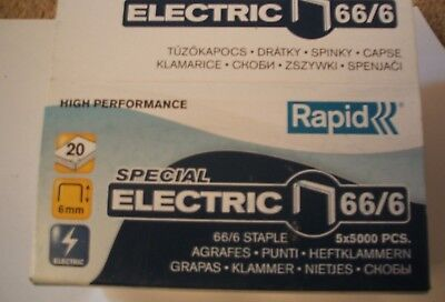 5 Boxes X 5000 Rapid 66/6 Special Electronic Staples
