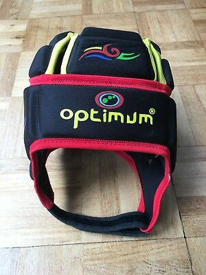 Optimum Tribal Rugby Headguard - LB in Black/Multi-coloured  (Union or League)