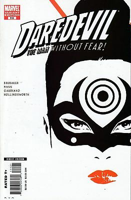 Daredevil #111 Aja Variant First Lady Bullseye Nm Unread Copy Hot (2008)