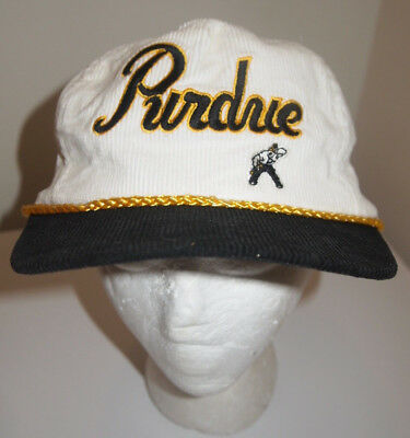 newest collection 40a14 ebb40 ... discount code for vintage 90s purdue boilermakers corduroy snapback trucker  hat cap ncaa script a6b66 b17f5