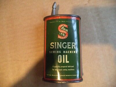 VINTAGE SINGER SEWING-SINGER 3oz OIL CAN/DISPENSER