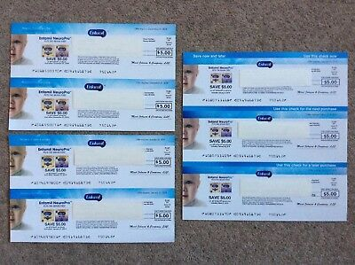 Seven $5 Enfamil Baby Formula Coupons Checks $35 Value Mail In Stamped Envelope