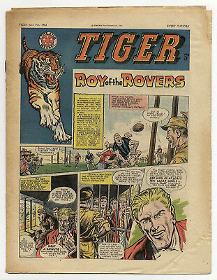 Tiger 9th June 1962 (Olac the Gladiator, Roy of the Rovers, Jet-Ace Logan)