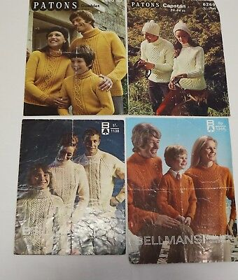 Job-lot of mixed vintage for the Family knitting patterns -see photos