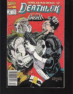 DEATHLOK  #6 1991 PUNISHER x-over ''SIMILAR MACHINES'' P/1 COWAN/ WILLIAM...FN-