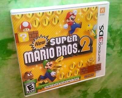 🎁 New! Super Mario Bros 2! Nintendo 3DS 2012 with case & instruction booklet!!!