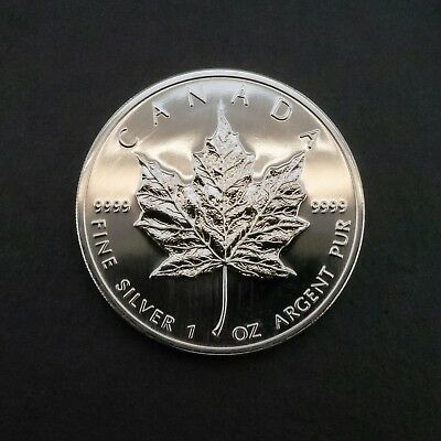 (Ne6) Canada Maple Leaf 999 Fine Silver 1 Oz Argent Pur 5 Dollars 2012 Coin