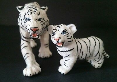 Safari Ltd White Tiger Toy Lifelike Model Small Figures Set of 2