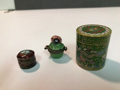 Three Small Different Pill Boxes