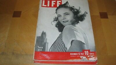 1941 Life Magazine December 15 Pearl Harbor Bomb High Grade Lowest Price On Ebay