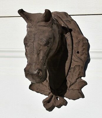 Vintage Heavy Cast Iron Horse Head Wall Decor                #2302