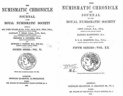 The Numismatic chronicle 120 volumes (1838-1960) on DVD