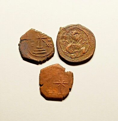 Lot Of 3 Ancient Byzantine Tetarteron Coins