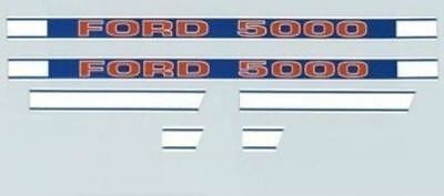 Tractor Hood Decal Set KIT F504HB for FORD New Holland 5000 (1968 & Up)