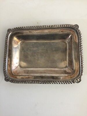 Antique Sterling Silver Calling Card Tray