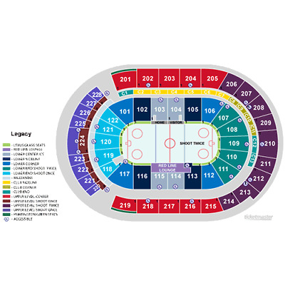 Columbus Blue Jackets vs Vegas Golden Knights Tickets Nationwide Arena 117 Row G