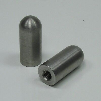 """3/8""""-16 Bullet Threaded Steel Bungs QTY 2 DIY Fabrication Builder USA MADE 1.75"""""""