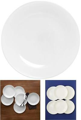 """Corelle Winter Frost 6 Pack Set Piece Lunch Plates White 8.5"""" Microwave Safe Use"""