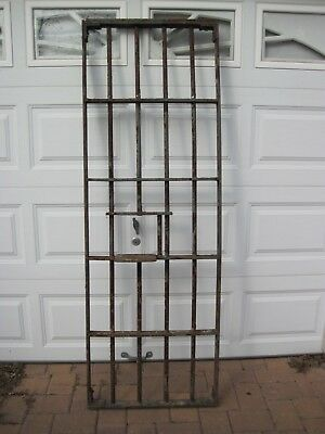 Vintage/Antique Illinois State Prison Jail Cell Door With Meal Tray Slot