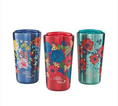 The Pioneer Woman Floral Print Stainless Steel Tumbler Double Wall 18oz -3 Pack