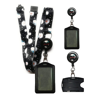 Retractable Lanyard Neck Strap SpiriuS with Breakaway & Choose ID Badge Holder