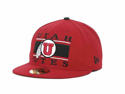 half off d7558 58e37 Utah Utes New Era 59FIFTY NCAA Fitted Cap Hat - Size  7